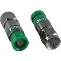 Photo of ICM FSNS6U RG6/6 Quad F Compression Connector Nickel Green Snap-n-Seal - Each