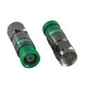 ICM FSNS6U RG6/6 Quad F Compression Connector Nickel Green - 25pk Snap-n-Seal