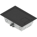 FSR RFL3-Q1G-SLBLK 3 Inch Deep Back Box with 4 1-Gang Plates - Black Trim