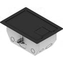 FSR RFL4.5-D1G-SLBLK 4.5 Inch Deep Back Box with 2 - 1 Gang Plates - Black Trim