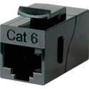 FSR SS-RJCAT6-BLK Black RJ45 CAT 6 Pass Thru Snap-in Connector