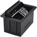 FSR T3U-3R-BLK Table Top Tilt Up Box with 4 AC Outlets - Black Cover