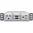 FSR TM-AC2CH2R-WHT Ear Mount - for 2 AC 2 USB 2 USB Rear 8 Foot CD
