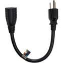 Furman 15-EXT1 NEMA 5-15P to NEMA 5-15R Power Extension Cable - 1 Foot