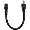 Furman 15-IEC1 14/3 SJT Black NEMA 5-15P to IEC-60320-C13 Power Cable - 1 Foot