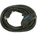 Furman ACX-25 Black 25 Foot (14AWG) Extension / Power Cord with Three Female Outlet Sockets