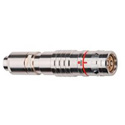 Lemo FUW.3K.93C.YSEC96 IP68 10A SMPTE Fiber Optic Straight Plug Cable Collet with Hybrid Contacts