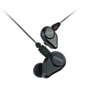 Fostex TE-04BK Jet Black In-Ear Headphones with Detachable Cable and Mic