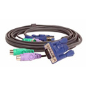IOGear G2L5002P Micro-Lite Bonded All-in-one PS/2 VGA KVM Cable 6 feet