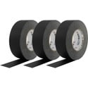 Pro Tapes Pro-Gaff Gaffers Tape BGT-60 3-Pack - 2 Inch x 55 Yards - Black