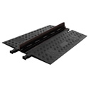 Guard Dog Low Profile-1 Channel with ADA Compliant Ramps Black Lid/Black Base - 36 Inch