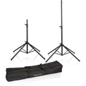 Gator Frameworks GFW-SPK-4000SET One Pair Quad Base Speaker Stand with Carry Bag