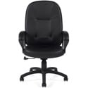 Global Furniture 4009 High Back Leather Media Chair 16-20 Inch Seat Height - Black