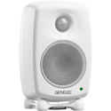 Genelec 8010AW 3 Inch LF/12W and HF/12W Active Studio Monitor with ISS Power Management - White Finish