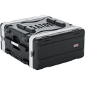Gator GRR-4PL-US 4 Space Rolling Rack Case with built in PDU Power Strip