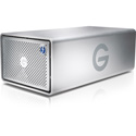 G-Tech 0G04085 G-RAID Removable Dual-Drive Thunderbolt 2 with Single USB 3.0 2-Bay Storage 7200RPM HDD - 8TB - Silver