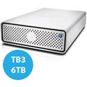G-Tech 0G10491 G-DRIVE External Hard Drive (Thunderbolt 3 & USB 3.1 Gen 1) - 6TB