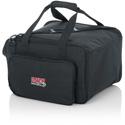 Gator G-LIGHTBAG-1610 LED PAR Lighting Tote Bag With Adjustable Dividers For 4 Lights 16x10x14 Inch
