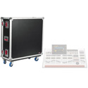 Gator GTOURWING G-Tour Flight Case for Behringer Wing Mixer Includes Casters and Doghouse.