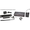 Galaxy Audio AS-950N Wireless In-ear Monitor System with Receiver / Earbuds & Rackmount Kit - N Band 518-542MHz