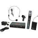 Galaxy Audio EDXR-HHBPS-D EDX Wireless Microphone System - Code D Freq. Range 584-607 MHz