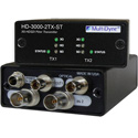 Multidyne HD-3000-2TX-ST Dual 1 Way Multi-Rate Serial Digital Video Transmitter - Two Fibers
