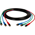 Laird HD3BNC-75 Canare V3-4CFB RG59 3-Channel 3G-SDI BNC Video Snake Cable - 75 Foot