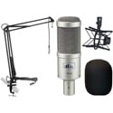 Heil PR40 Mic Kit with PRSM-B Shock Mount & MXL BCD Stand featuring 12ft Attached Cable & Mic Boom - Windscreen