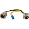 Camplex LEMO EDW to Duplex LC & 5-Pin Amp Power Fiber Breakout 18 Inch