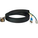 Camplex FCS015A-MR Canare Hybrid Fiber Optic Receptacle Cable SMPTE/ARIB w/ ST - Male 1 Foot