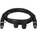 Camplex opticalCON QUAD to QUAD Singlemode Fiber Optic Tactical Cable 100 Foot