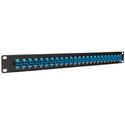 Camplex HF-OPRP-9 Patch Panel - 1RU 24-Port Preloaded with LC Duplex Single Mode Adapters - Blue