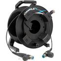 Camplex opticalCON QUAD to opticalCON QUAD SM Fiber Optic Tac Reel 100 Ft