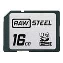 Hoodman RAWSDHC16GBU1 Raw Steel Class 10 SDHC Card - 16GB