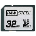 Hoodman RAWSDHC32GBU1 Raw Steel Class 10 SDHC Card - 32GB