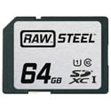 Hoodman RAWSDXC64GBU1 Raw Steel Class 10 SDXC Card - 64GB