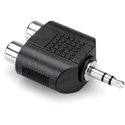 Hosa GRM-193 Adaptor - Dual RCA to 3.5 mm TRS