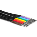 Hosa TTS-890 Balanced Patch Cables TT TRS to Same - 3 Ft 8 Pk