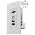 Hall Technologies EX-HDU-WP HDMI and USB Extension on CAT6 Decora Wall Plate Sender