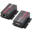 Hall Research U22-160 USB 2.0 over UTP Extender with 2 Port Hub