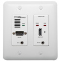 Hall Technologies UHBX-R-WP HDBaseT Wall Plate Receiver with IR RS-232 and PoH