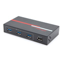 Hall Research USB23H-4 4 Port USB 3.0 Hub with USB 1.1/2.0 Data to USB 3.0 Conversion