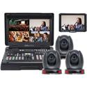 Datavideo HS-1600T-3C140TCM Mobile Studio Kit with HS-1600T 3x PTC-140T/ TLM-700K and Case