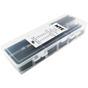 NTE HS-ASST-2 Master Heat Shrink 158 Piece 2.5 Inch 2-to-1 Shrink Tubing Kit Black
