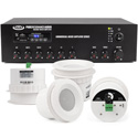 Pure Resonance Audio HSSS-4C3MA30BT Restaurant System with 4 C3 Speakers & Amplifier with Bluetooth