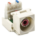HellermannTyton RCA To 110 Keystone Module with Red Stripe - Office White