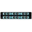 HellermannTyton VFAP6DMMQSCZ FT Adapter Panel Preloaded with 6 Duplex SC MM Aqua