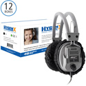 HygenX HYGENXCP45BK Disposable Sanitary Headphone Covers in Black PPE 4.5-Inch Deluxe - Master Carton - 600 Pairs