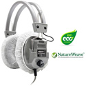 HygenX X19HLCWHG NatureWeave 100% Biodegradable Sanitary Headphone Covers PPE 4.5-Inch in White - 50 Pairs