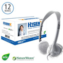 HygenX X19HSCWHC NatureWeave 100% Biodegradable Disposable Headphone Covers PPE 2.5-Inch White Master Carton 600 Pr
